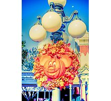Pumpkin Mouse Photographic Print