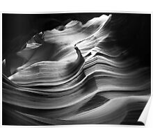 Sandstone Wave ~ Black & White Poster