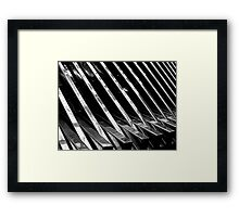 Chrome Ribbed - By. Jonny McKinnon Framed Print