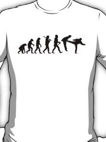 Teevolution Kick Black T-Shirt