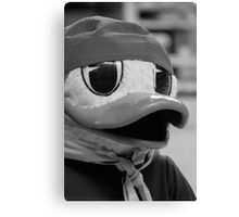 Duck Tails in B&W Canvas Print