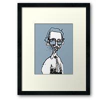 the underground cartoonist Framed Print