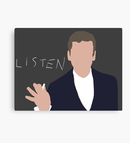 Doctor Who, 12, Listen Canvas Print