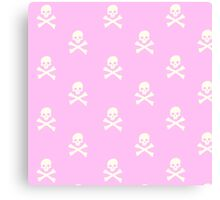 Pink Skull and Crossbones Canvas Print