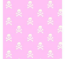 Pink Skull and Crossbones Photographic Print