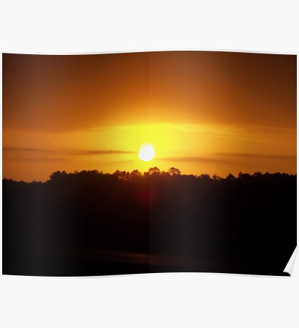 Turkey Day Sunrise Poster