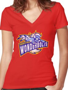 Wonderbolts Women's Fitted V-Neck T-Shirt
