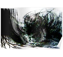 an evil black forest seascape.... dark wreck Poster