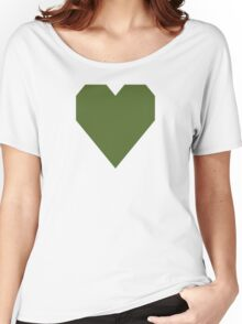 Dark Olive Green  Women's Relaxed Fit T-Shirt