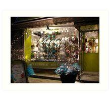 Christmas Shopfront Art Print