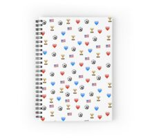 USWNT World Cup Champions Emojis Spiral Notebook