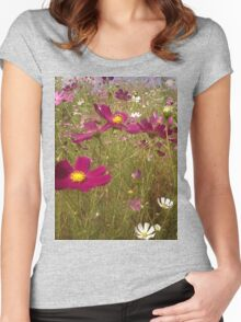 Crawling among the Cosmos Women's Fitted Scoop T-Shirt