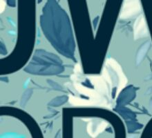 JW.org (white and blue flowers) Sticker