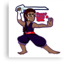 connie the sword fighter Canvas Print