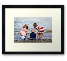 Grandchildren at the Beach Framed Print