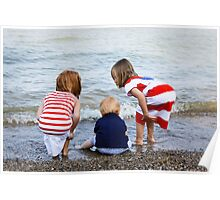 Grandchildren at the Beach Poster