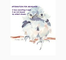 Affirmation for ABUNDANCE 1 Womens Fitted T-Shirt