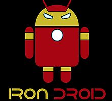 Iron Droid: Combo of Iron Man and Android by jackchenart