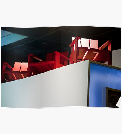 Red Chairs On High Poster