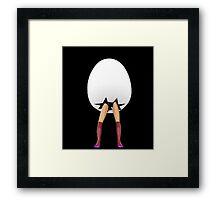 Egg with legs Framed Print