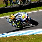 Valentino Rossi through a left turn by PRCreations