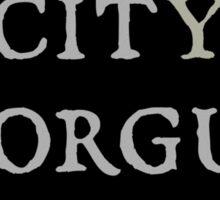 City Morgue Sticker