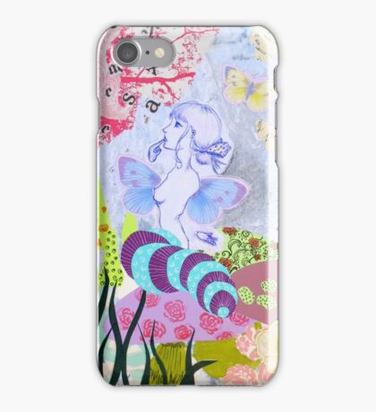 Alice in Wonderland Collaged Caterpillar iPhone Case/Skin