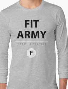 Fit Army Tank in Gray/Black/White Long Sleeve T-Shirt