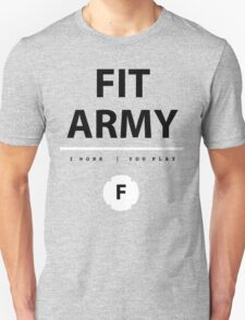 Fit Army Tank in Gray/Black/White Unisex T-Shirt