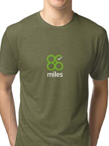 88 Miles - Simple Time Tracking Tri-blend T-Shirt