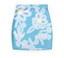 Peaceful-Pastel Watercolor Floral Pencil Skirt