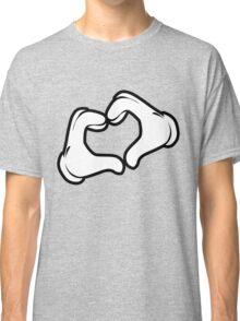 Cartoon Hands Heart Gesture Classic T-Shirt