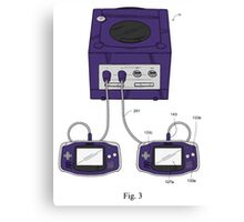 Game Boy Advance Gamecube Controller Canvas Print