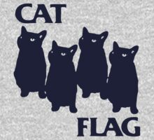 Cat Flag Funny Black Flag by Rudhei1982