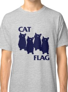 Cat Flag Funny Black Flag Classic T-Shirt