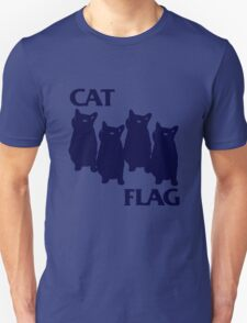 Cat Flag Funny Black Flag T-Shirt