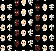 Darth Maul, Count Dooku, General Grievous WASTED Star Wars Prequel Villains by Ali Lavoie by commonroompc