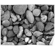 Pebbles - Norfolk Beach. Poster