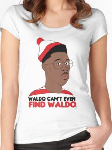 Waldo Can't Even Find waldo Women's Fitted Scoop T-Shirt