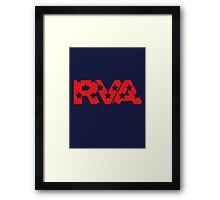 RVA -Stars Red Framed Print