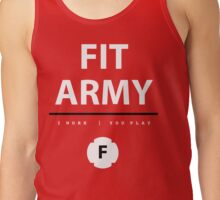 Fit Army Tank in Red/White/Black Tank Top