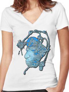 Frozen Head Women's Fitted V-Neck T-Shirt