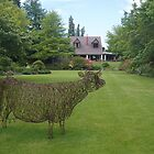 garden sculpture, Flaxmere Garden, New Zealand by johnrf