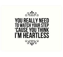Heartless. Art Print