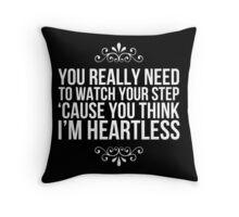 Heartless. Throw Pillow