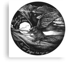 Crow Glitter Canvas Print