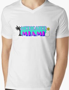 Colorful Miami Vice inspired Theme Mens V-Neck T-Shirt
