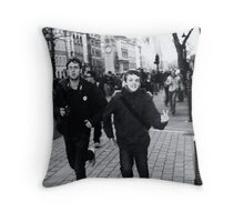 they bravely ran away Throw Pillow