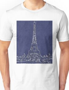 the EIFFEL TOWER IN VLUE Unisex T-Shirt
