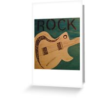 Rock Guitar 2 Greeting Card